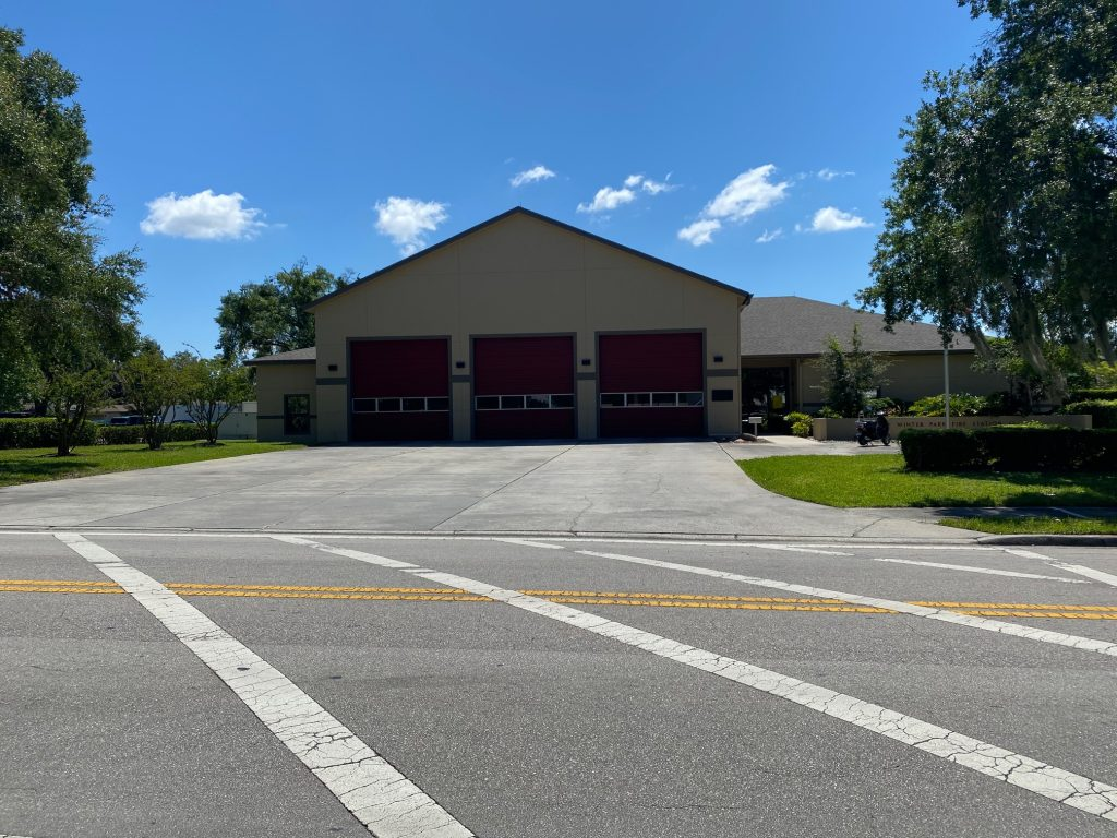 Fire station 62 on a sunny day.
